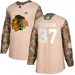 Adam Burish Chicago Blackhawks Men's Adidas Authentic Camo Veterans Day Practice Jersey