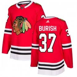 Adam Burish Chicago Blackhawks Men's Adidas Authentic Red Home Jersey