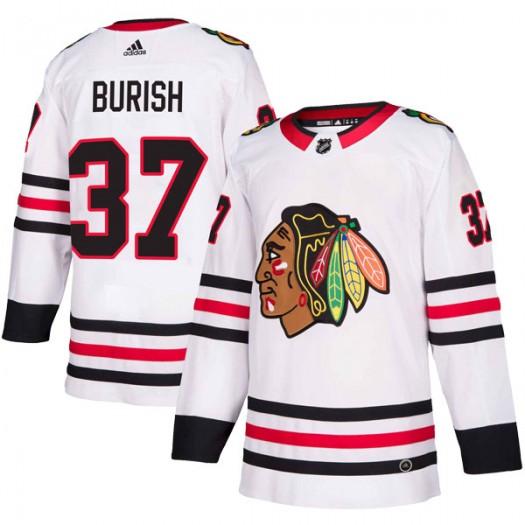 Adam Burish Chicago Blackhawks Men's Adidas Authentic White Away Jersey