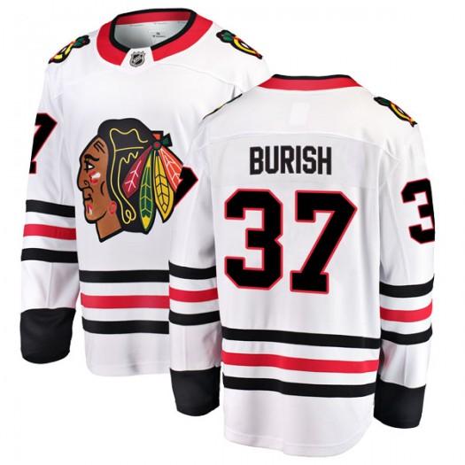 Adam Burish Chicago Blackhawks Men's Fanatics Branded White Breakaway Away Jersey