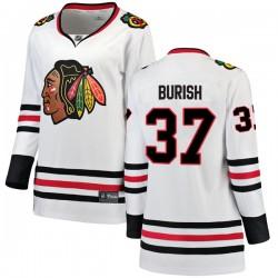 Adam Burish Chicago Blackhawks Women's Fanatics Branded White Breakaway Away Jersey