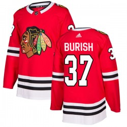Adam Burish Chicago Blackhawks Youth Adidas Authentic Red Home Jersey
