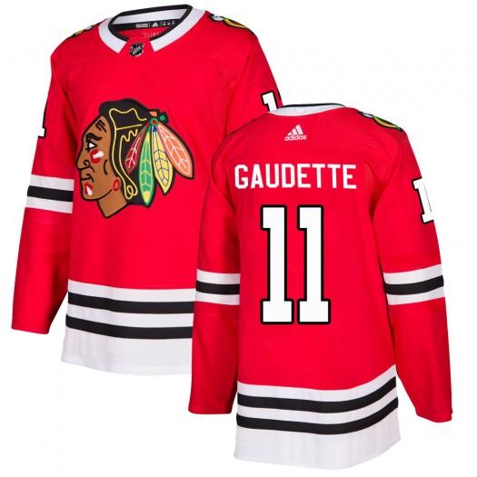 Adam Gaudette Chicago Blackhawks Men's Adidas Authentic Red Home Jersey