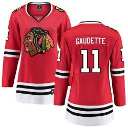 Adam Gaudette Chicago Blackhawks Women's Fanatics Branded Red Breakaway Home Jersey