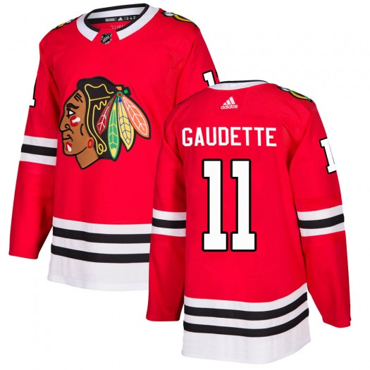 Adam Gaudette Chicago Blackhawks Youth Adidas Authentic Red Home Jersey