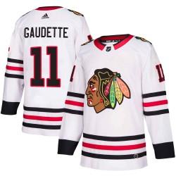 Adam Gaudette Chicago Blackhawks Youth Adidas Authentic White Away Jersey