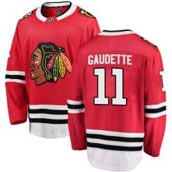 Adam Gaudette Chicago Blackhawks Youth Fanatics Branded Red Breakaway Home Jersey