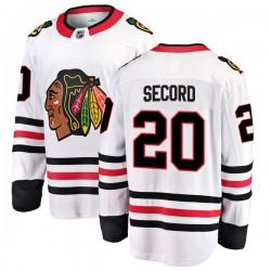 Al Secord Chicago Blackhawks Men's Fanatics Branded White Breakaway Away Jersey