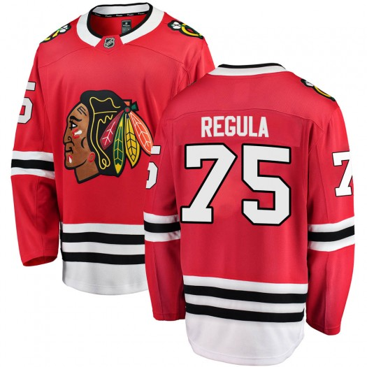 Alec Regula Chicago Blackhawks Men's Fanatics Branded Red Breakaway Home Jersey