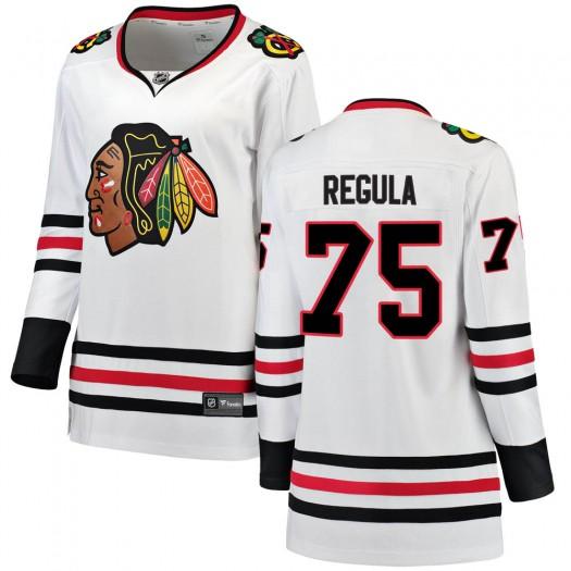 Alec Regula Chicago Blackhawks Women's Fanatics Branded White Breakaway Away Jersey