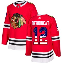 Alex DeBrincat Chicago Blackhawks Men's Adidas Authentic Red USA Flag Fashion Jersey