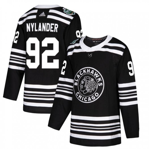 Alexander Nylander Chicago Blackhawks Men's Adidas Authentic Black 2019 Winter Classic Jersey