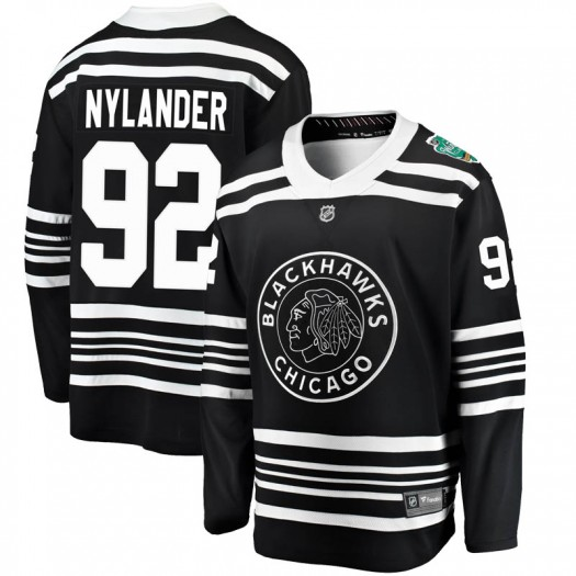 Alexander Nylander Chicago Blackhawks Youth Fanatics Branded Black 2019 Winter Classic Breakaway Jersey