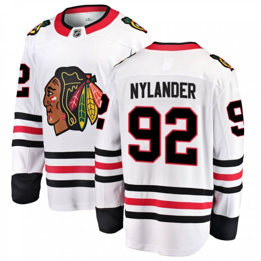 Alexander Nylander Chicago Blackhawks Youth Fanatics Branded White Breakaway Away Jersey