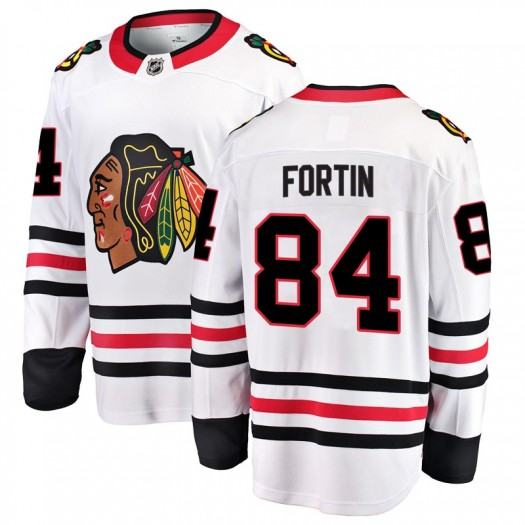 Alexandre Fortin Chicago Blackhawks Men's Fanatics Branded White Breakaway Away Jersey