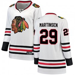 Andreas Martinsen Chicago Blackhawks Women's Fanatics Branded White Breakaway Away Jersey