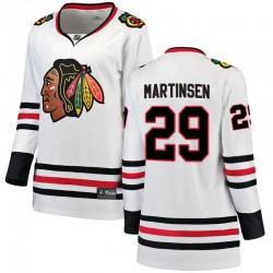 Andreas Martinsen Chicago Blackhawks Women's Fanatics Branded White Breakaway Away Jersey
