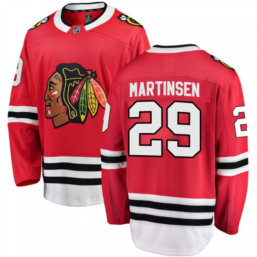 Andreas Martinsen Chicago Blackhawks Youth Fanatics Branded Red Breakaway Home Jersey