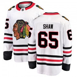 Andrew Shaw Chicago Blackhawks Men's Fanatics Branded White Breakaway Away Jersey