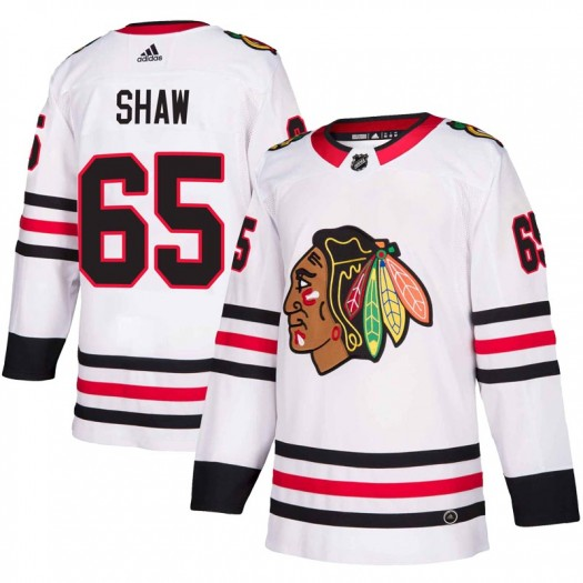 Andrew Shaw Chicago Blackhawks Youth Adidas Authentic White Away Jersey