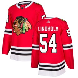 Anton Lindholm Chicago Blackhawks Youth Adidas Authentic Red Home Jersey