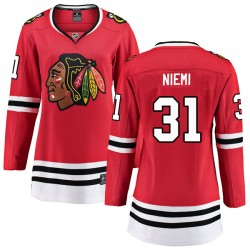 Antti Niemi Chicago Blackhawks Women's Fanatics Branded Red Breakaway Home Jersey