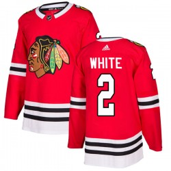 Bill White Chicago Blackhawks Men's Adidas Authentic White Red Home Jersey