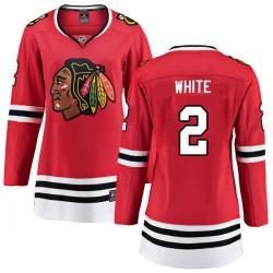 Bill White Chicago Blackhawks Women's Fanatics Branded White Breakaway Red Home Jersey