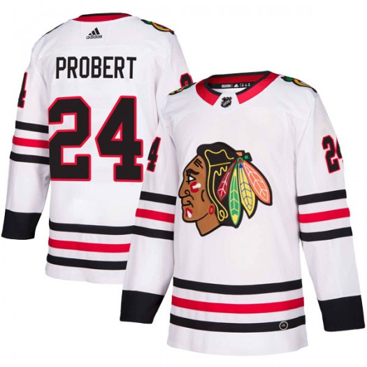 Bob Probert Chicago Blackhawks Men's Adidas Authentic White Away Jersey