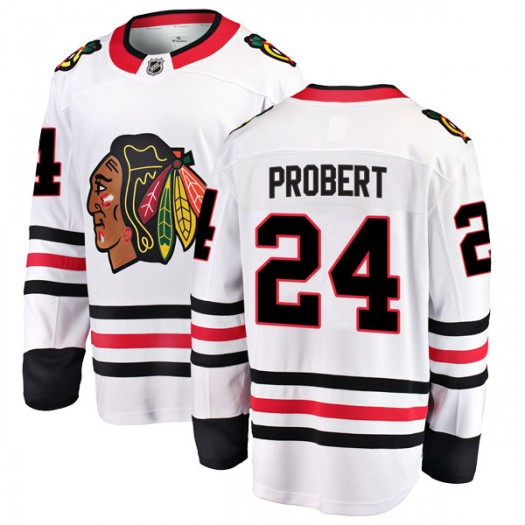 Bob Probert Chicago Blackhawks Men's Fanatics Branded White Breakaway Away Jersey