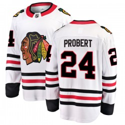 Bob Probert Chicago Blackhawks Youth Fanatics Branded White Breakaway Away Jersey