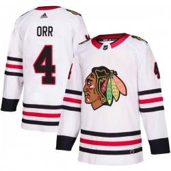 Bobby Orr Chicago Blackhawks Men's Adidas Authentic White Away Jersey