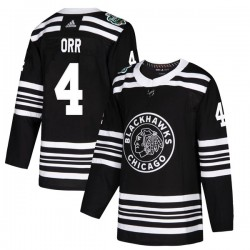 Bobby Orr Chicago Blackhawks Youth Adidas Authentic Black 2019 Winter Classic Jersey