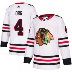 Bobby Orr Chicago Blackhawks Youth Adidas Authentic White Away Jersey