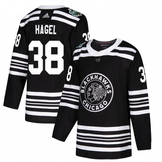Brandon Hagel Chicago Blackhawks Men's Adidas Authentic Black 2019 Winter Classic Jersey