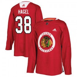 Brandon Hagel Chicago Blackhawks Men's Adidas Authentic Red Home Practice Jersey
