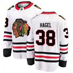 Brandon Hagel Chicago Blackhawks Men's Fanatics Branded White Breakaway Away Jersey