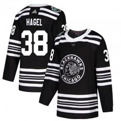 Brandon Hagel Chicago Blackhawks Youth Adidas Authentic Black 2019 Winter Classic Jersey