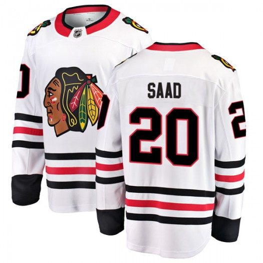 Brandon Saad Chicago Blackhawks Men's Fanatics Branded White Breakaway Away Jersey