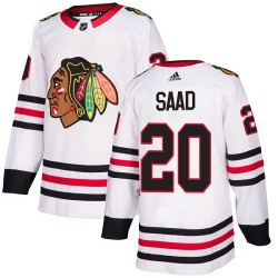 Brandon Saad Chicago Blackhawks Women's Adidas Authentic White Away Jersey