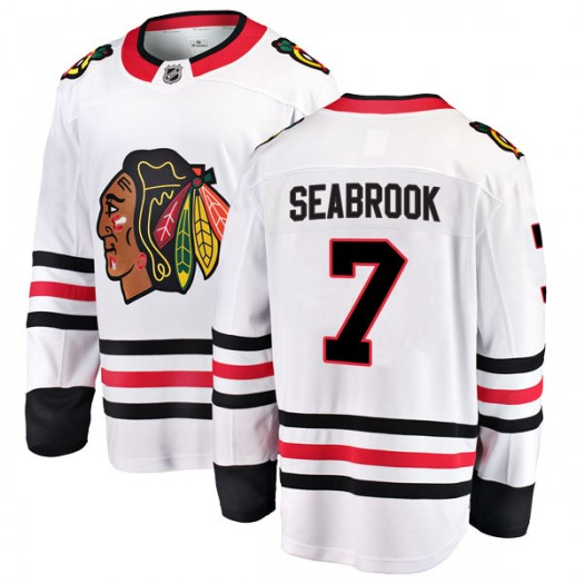 Brent Seabrook Chicago Blackhawks Men's Fanatics Branded White Breakaway Away Jersey