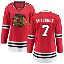 Brent Seabrook Chicago Blackhawks Women's Fanatics Branded Red Home Breakaway Jersey