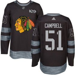 Brian Campbell Chicago Blackhawks Men's Adidas Authentic Black 1917-2017 100th Anniversary Jersey