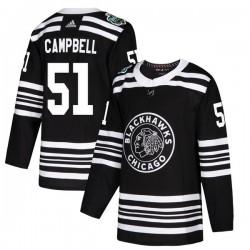 Brian Campbell Chicago Blackhawks Men's Adidas Authentic Black 2019 Winter Classic Jersey