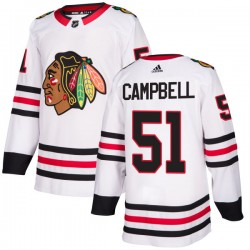 Brian Campbell Chicago Blackhawks Men's Adidas Authentic White Jersey