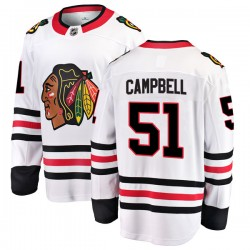 Brian Campbell Chicago Blackhawks Men's Fanatics Branded White Breakaway Away Jersey