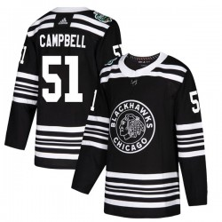 Brian Campbell Chicago Blackhawks Youth Adidas Authentic Black 2019 Winter Classic Jersey