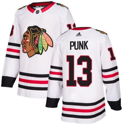 CM Punk Chicago Blackhawks Youth Adidas Authentic White Away Jersey