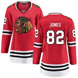 Caleb Jones Chicago Blackhawks Women's Fanatics Branded Red Breakaway Home Jersey
