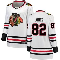 Caleb Jones Chicago Blackhawks Women's Fanatics Branded White Breakaway Away Jersey